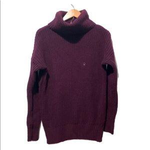 American Eagle Purple Turtleneck Sweater Medium